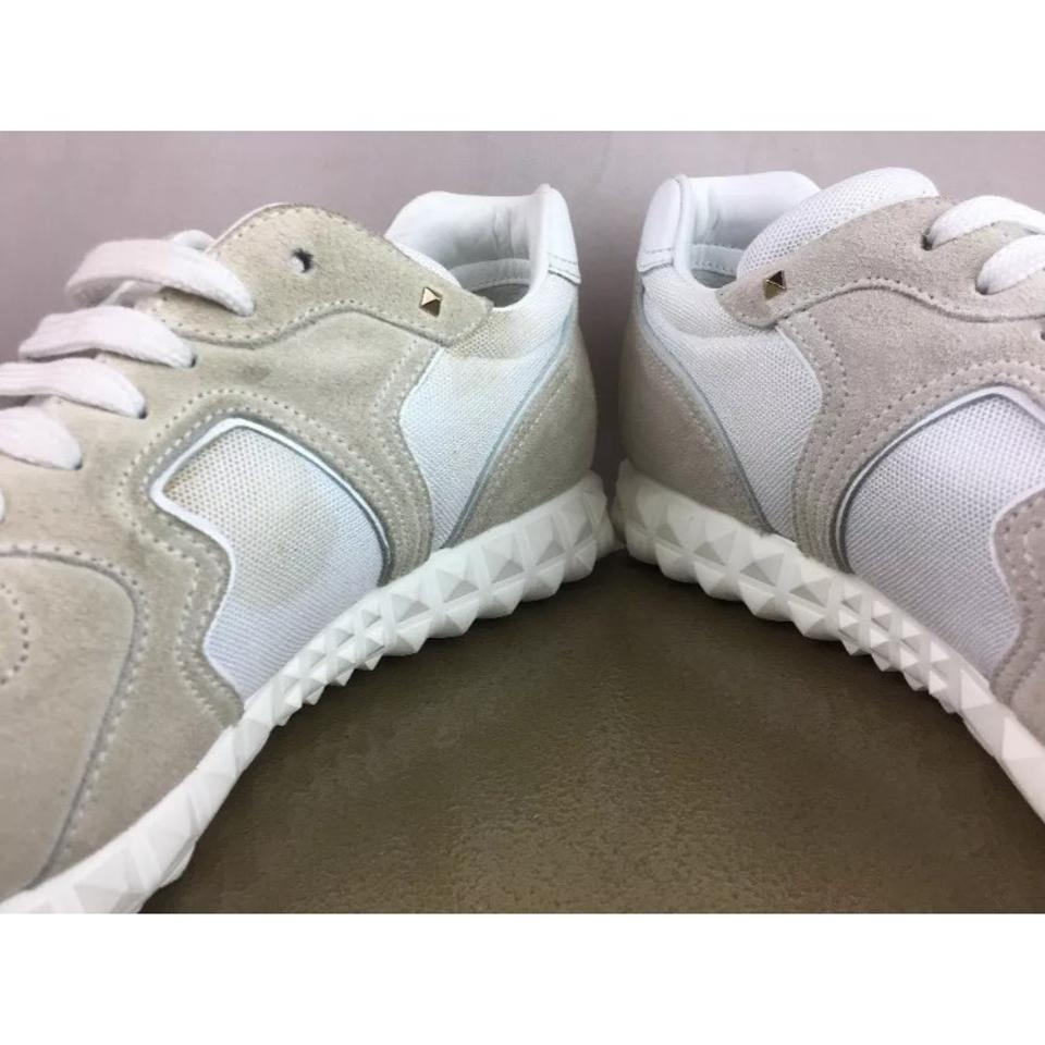 Sneakers White Fabric Soul New Valentino amp; Suede Sneakers Am In qEPz66K5vw