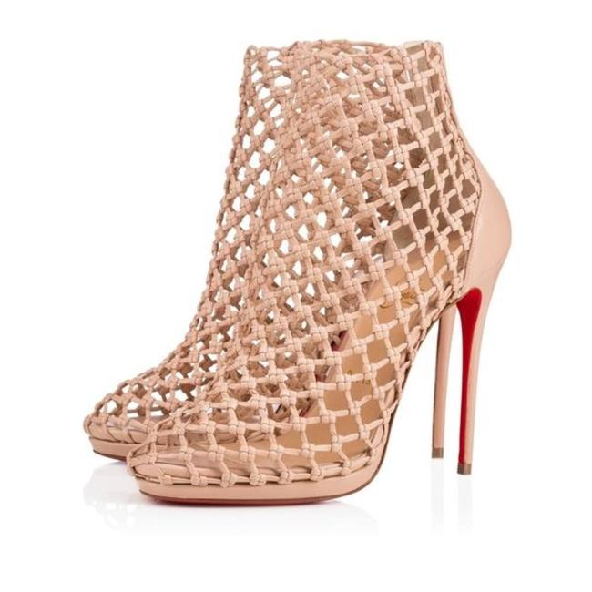 Christian Louboutin Nude Porligat Nu Leather Knitted Boot Sandal Pumps Size EU 39.5 (Approx. US 9.5) Regular (M, B) Christian Louboutin Nude Porligat Nu Leather Knitted Boot Sandal Pumps Size EU 39.5 (Approx. US 9.5) Regular (M, B) Image 1