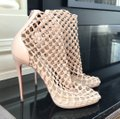 Christian Louboutin Nude Porligat Nu Leather Knitted Boot Sandal Pumps Size EU 39.5 (Approx. US 9.5) Regular (M, B) Christian Louboutin Nude Porligat Nu Leather Knitted Boot Sandal Pumps Size EU 39.5 (Approx. US 9.5) Regular (M, B) Image 2