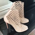 Christian Louboutin Nude Porligat Nu Leather Knitted Boot Sandal Pumps Size EU 39.5 (Approx. US 9.5) Regular (M, B) Christian Louboutin Nude Porligat Nu Leather Knitted Boot Sandal Pumps Size EU 39.5 (Approx. US 9.5) Regular (M, B) Image 3