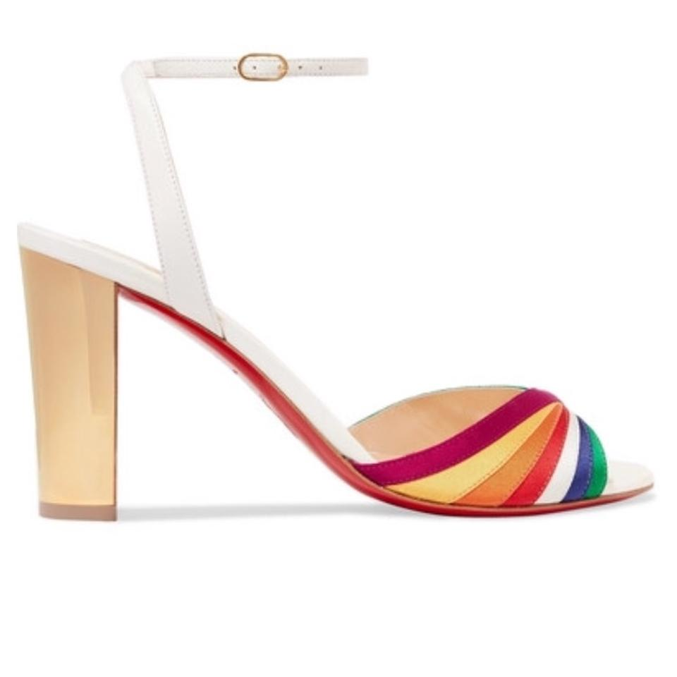 Naseebasse Louboutin Stiletto Pumps Rainbow White Christian Sandal UqxaEER