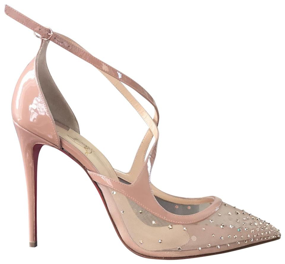 sports shoes e6495 82212 Christian Louboutin Nude Twistissima Strass Patent Classic Stiletto Pumps  Size EU 41 (Approx. US 11) Regular (M, B) 27% off retail