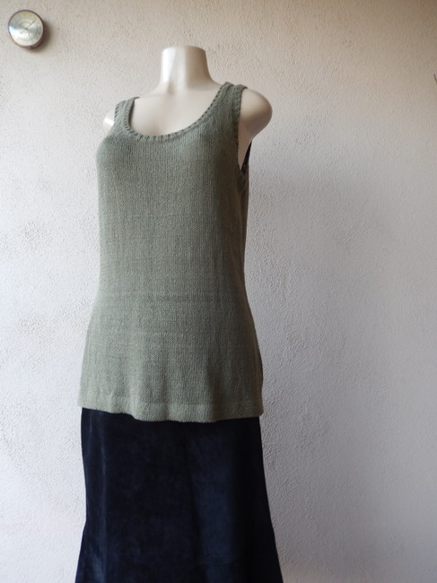 Premise Sleeveless Olive With Tags Knit New Sweater Image 2