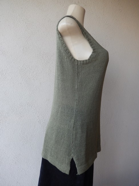 Premise Sleeveless Olive With Tags Knit New Sweater Image 3
