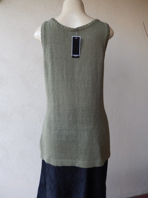 Premise Sleeveless Olive With Tags Knit New Sweater Image 4