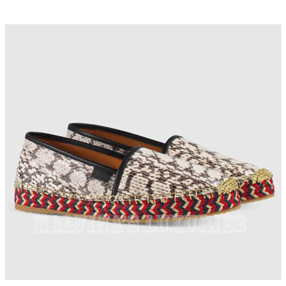 577bcf206adc1 Gucci Grey-multicolor Gucci-shoes Pilar-grey-snake-espadrille ...