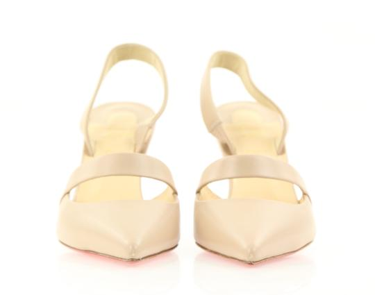 Christian Louboutin Nude Slingback Strappy 85mm Beige Pumps