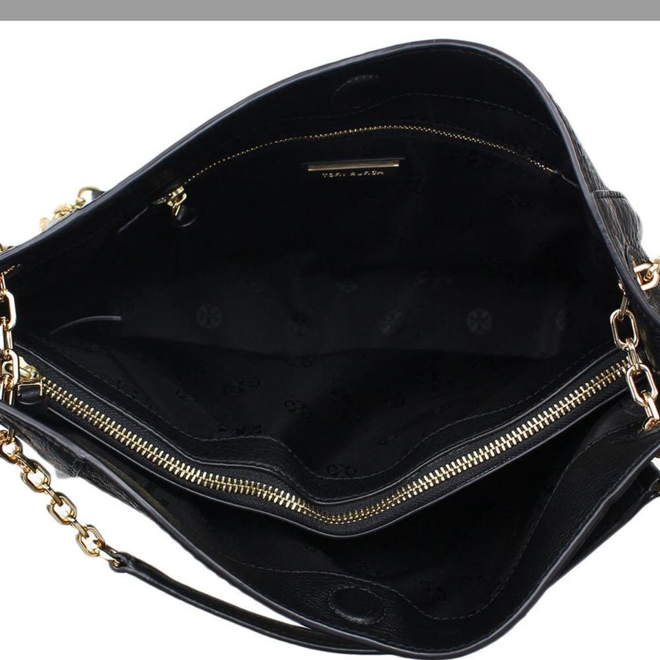 Burch Small Slouchy Britten Tory Leather Black Tote FOnaFqxw