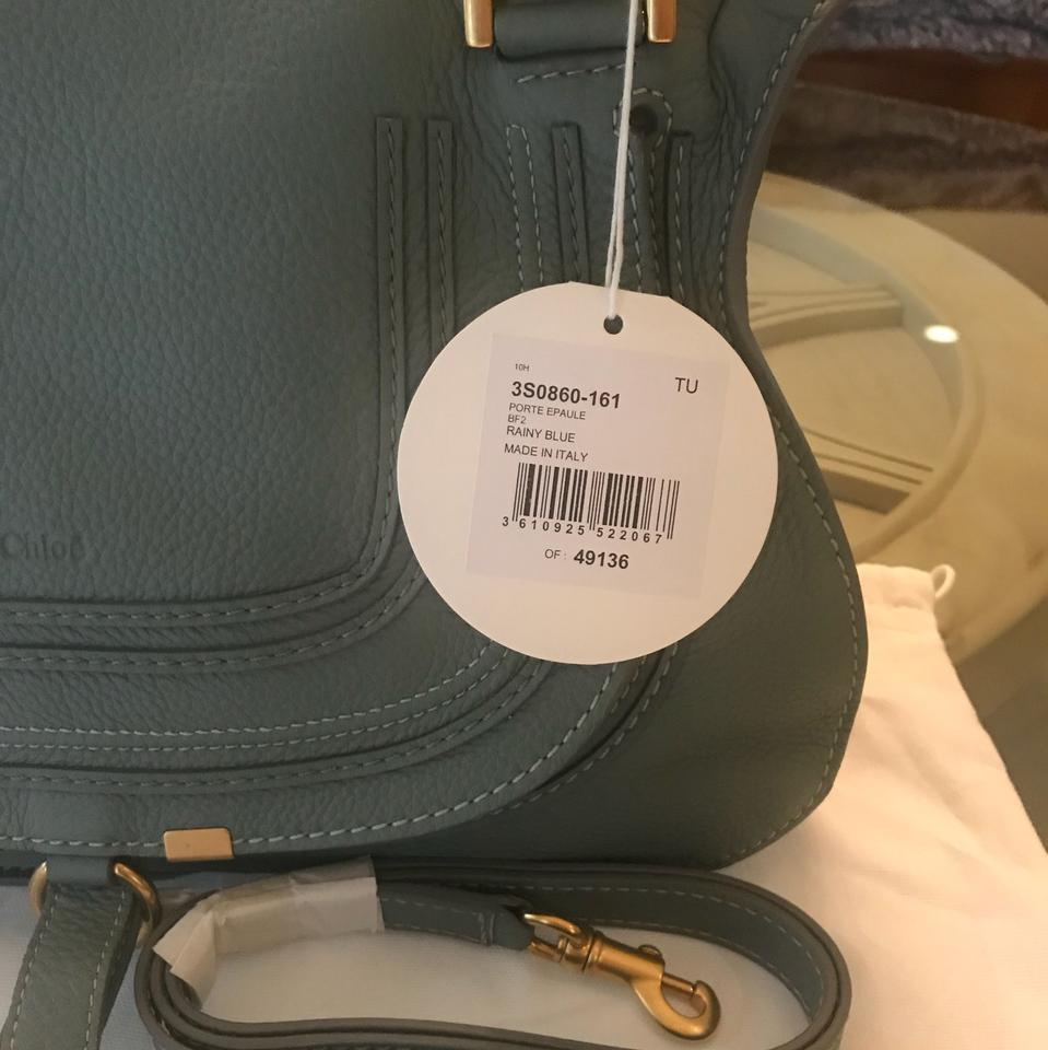 Chloé Blue Medium Leather Rainy Satchel Calfskin In Marcie New rzqx14Cr
