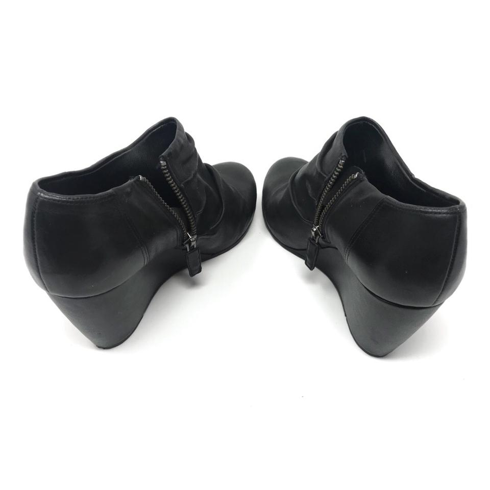 Boots Black Booties Eileen Fisher Leather fO4qXtPw