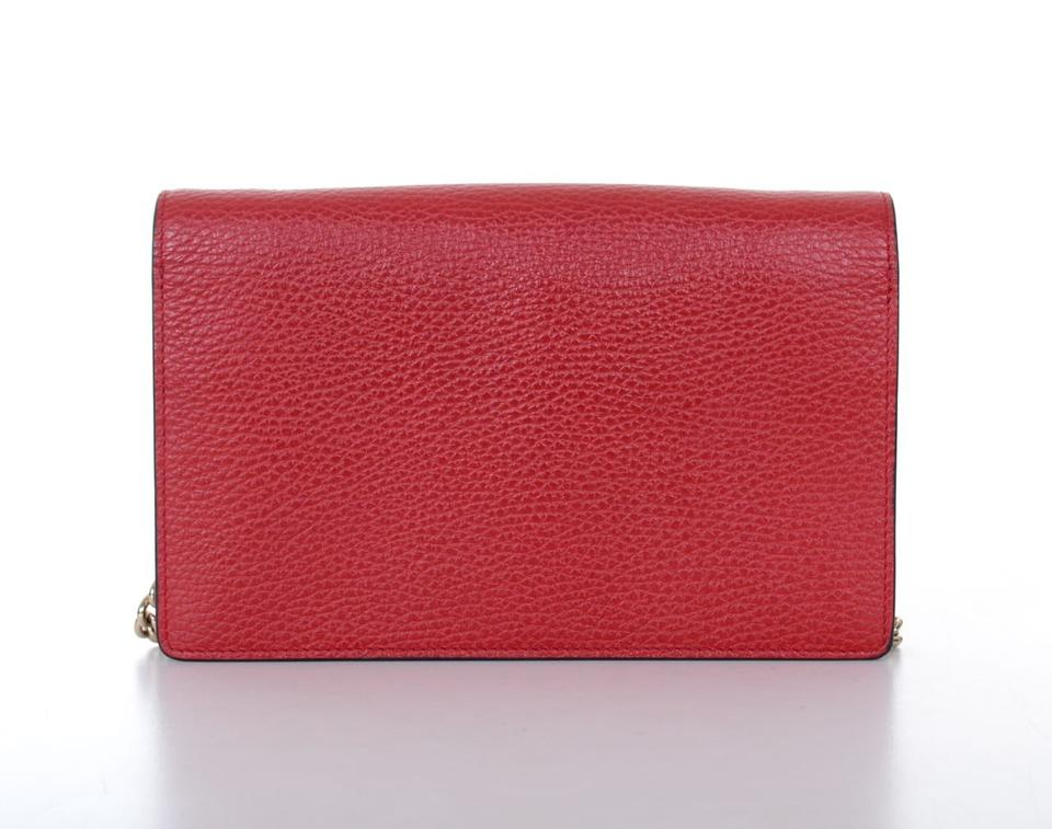 dd99aa8fc70 Gucci Soho New Style Woc Chain Purse Red Ivory Navy Leather Cross ...