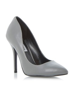 Steve Madden Leather Work Classic Gray Pumps