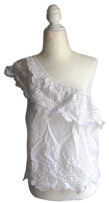 Item - White One Shouldered Blouse Size 4 (S)