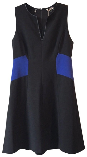 Preload https://img-static.tradesy.com/item/23859992/rebecca-taylor-black-blue-color-blocked-fit-and-flare-short-workoffice-dress-size-12-l-0-1-650-650.jpg