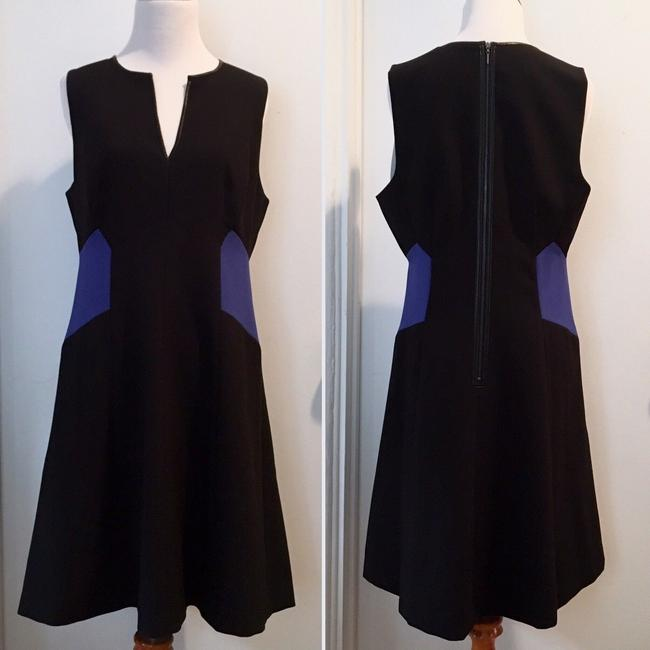Rebecca Taylor Color-blocking Fitted Fit And Flare Sleeveless V-neck Dress