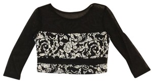 Sparkle & Fade Top black and ivory