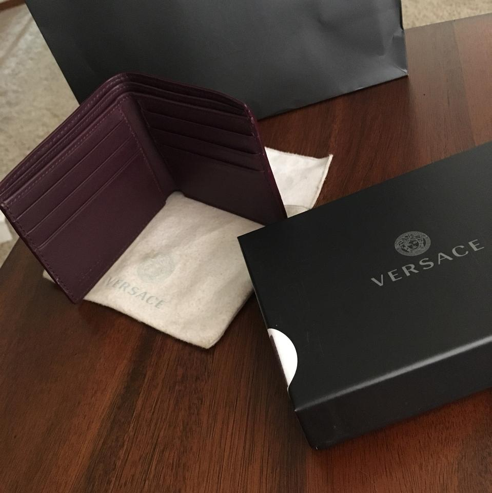 17e8eed344 Versace Brown Greca Argyle Medusa Wallet 10% off retail