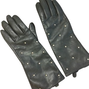 Kate Spade Loden Long Studded Leather Gloves Size 7.5