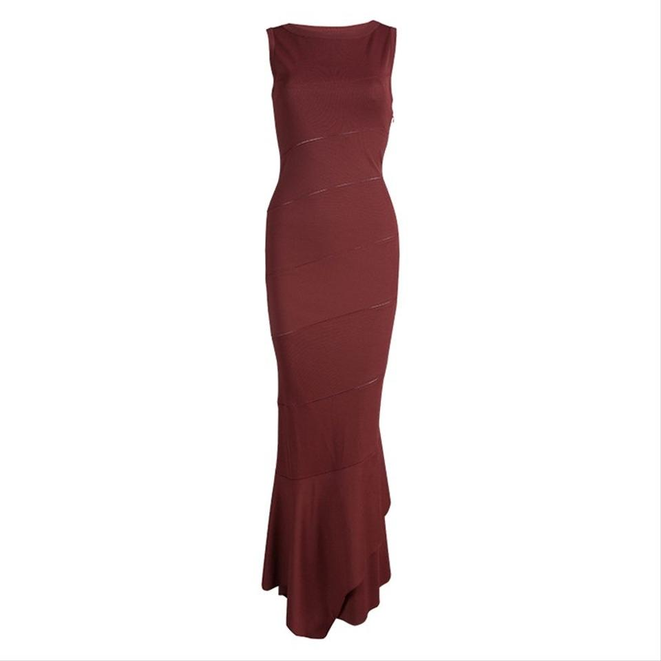 Maxi Casual Paneled Sleeveless Knit Dress Burgundy ALAÏA fxZaBwgnq