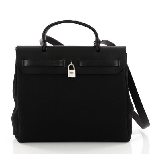 Hermès Leather Tote in black Image 3