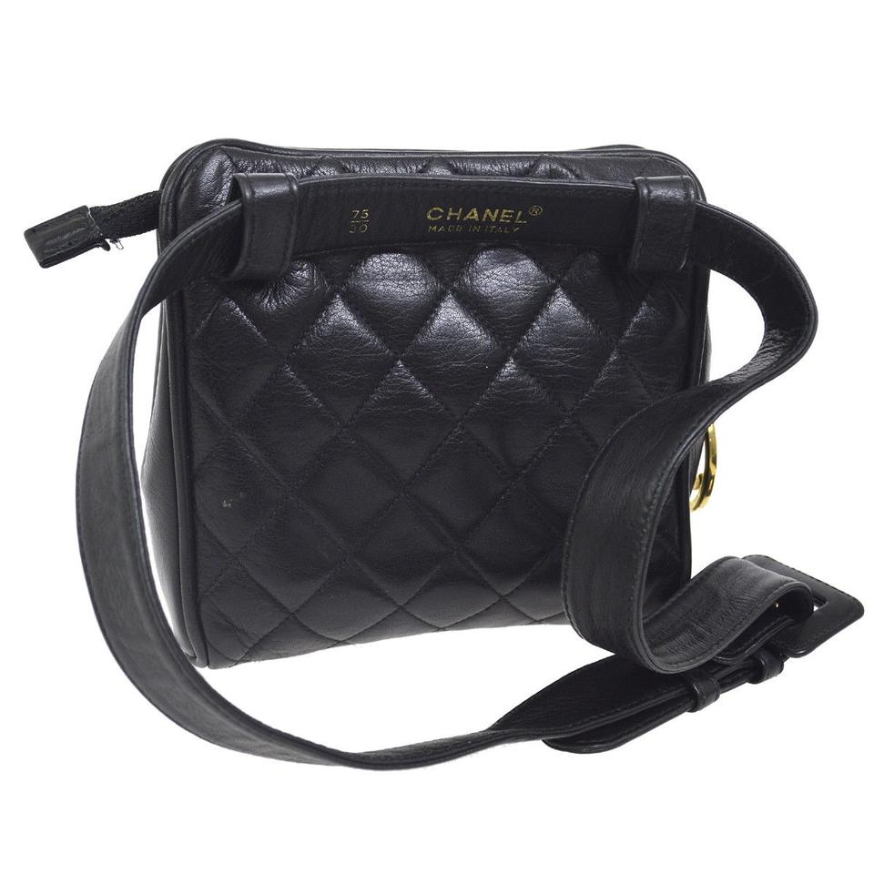 453c15d0726d08 Chanel Leather Limited Edition Vintage Quilted European black Clutch Image  8. 123456789