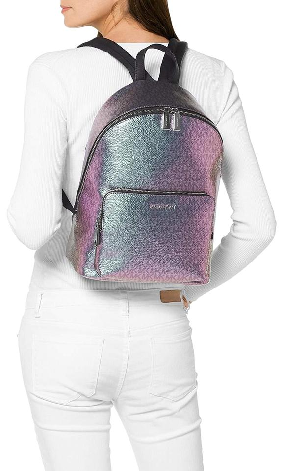 78afcd6833d948 MICHAEL Michael Kors Women's Wythe Large Metallic Hologram Leather Backpack