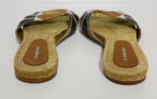 Burberry Black and Ivory Flats