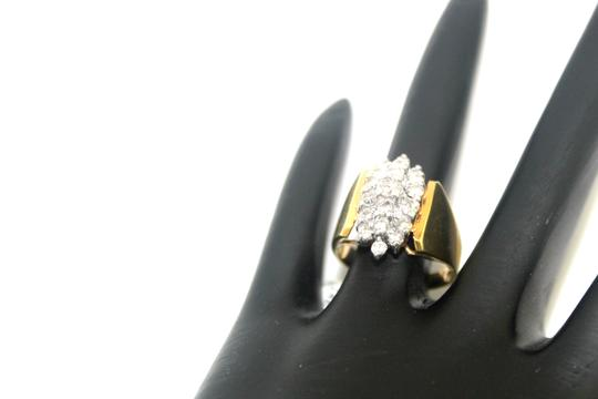 Other 14K Yellow Gold Diamond Cluster Ring