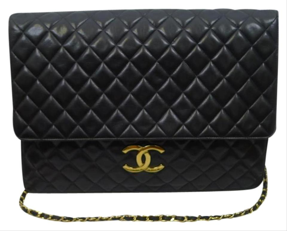 cd87b676df7e Chanel Clutch Rare Vintage Over Sized Jumbo Shoulder 2 Way Portfolio ...