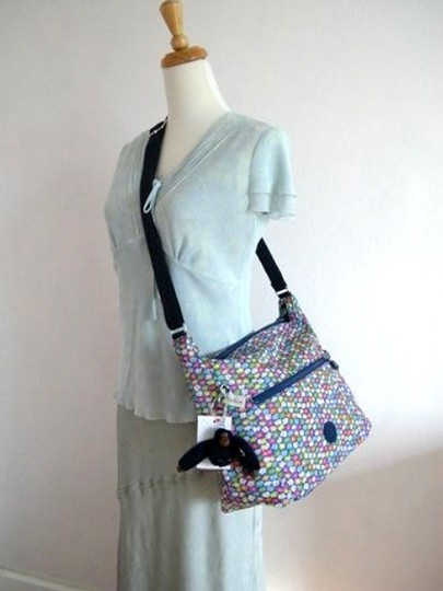 Kipling Teal Pattern Handbag Shoulder Bag