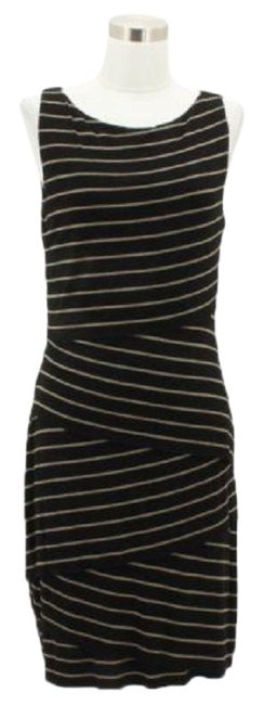 Preload https://img-static.tradesy.com/item/23860745/bailey-44-a18-designer-large-black-stripe-sleeveless-mid-length-short-casual-dress-size-12-l-0-1-650-650.jpg