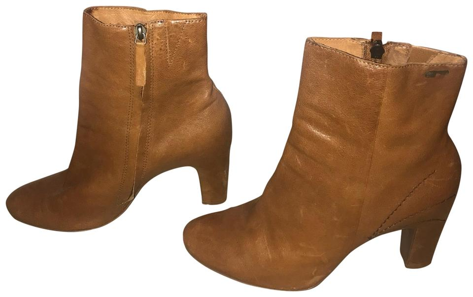 Naked Feet Tan Anthropologie Anthropologie Tan Leather Boots/Booties a144ce