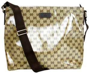 Gucci Crystal Gg Unisex Brown Messenger Bag