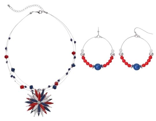 Preload https://img-static.tradesy.com/item/23860892/red-blue-and-earring-necklace-0-1-540-540.jpg
