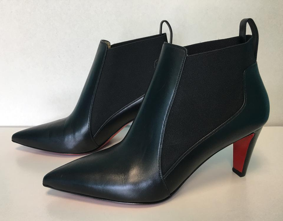 Point on Calf Black Classic Heels Booties Leather Pull Cuoio Boots 70mm Christian toe Louboutin Verafusa SZw8q