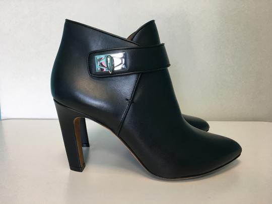 Givenchy Leather Ankle Silver Twist Lock Made In Italy Shark Black Boots