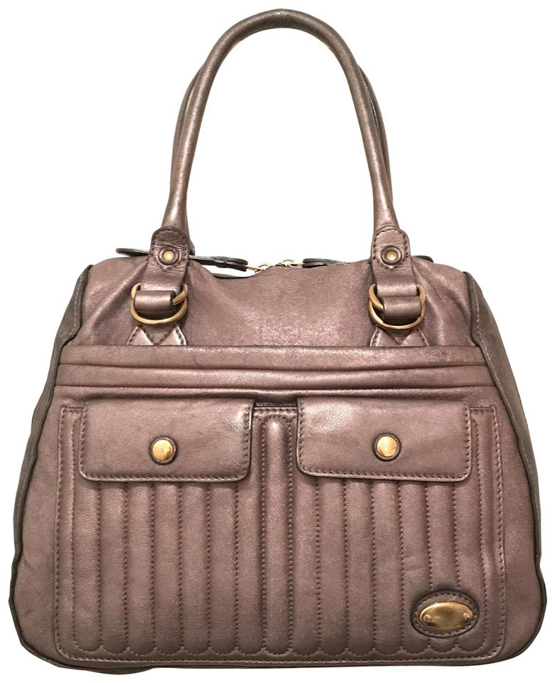 5da1193152 Chloé Purse Handbag Satchel Distressed Quilted Tote in Gunmetal Silver Gray  Pewter Image 0 ...