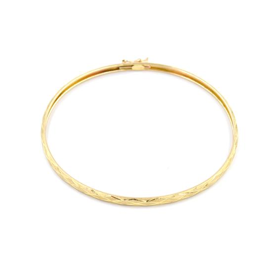 Handmade 10k Yellow Gold Bangle Bracelet Womens