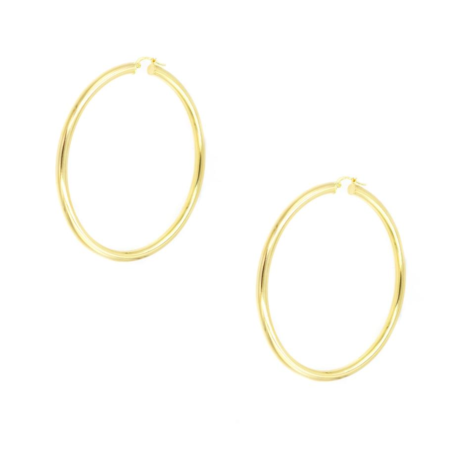 a6bf1fe902cfb 10k Yellow Gold Large Hollow Hoop Earrings 23% off retail
