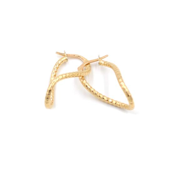 Handmade 10k Yellow Gold Twist Hoop Earrings
