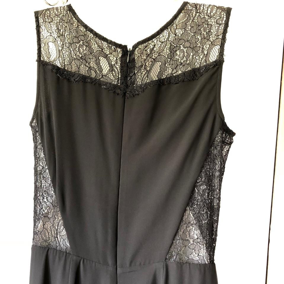 6e138f85be5c Gianni Bini Black Sleevelesse with Cf Cutout Lace Yoke Romper ...