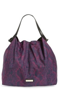 Jimmy Choo Extra Large Floral Logo Plaque Purple Travel Bag