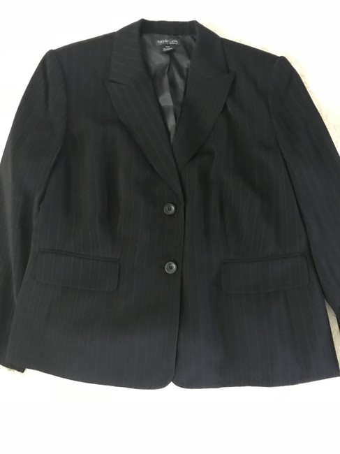 Style & Co Office Black with blue pinstripe Blazer
