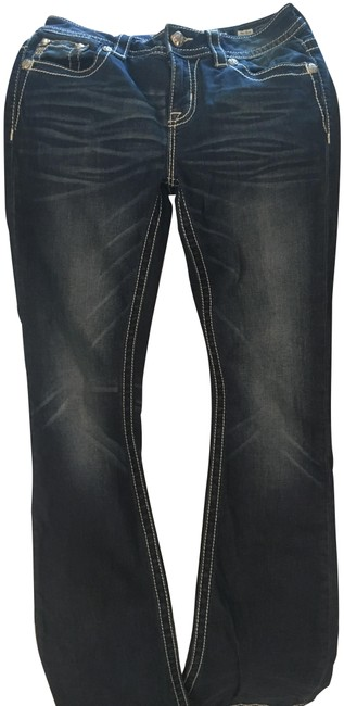 Preload https://img-static.tradesy.com/item/23861335/miss-me-dark-blue-rinse-boot-cut-jeans-size-28-4-s-0-1-650-650.jpg