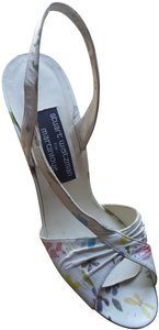 Stuart Weitzman Vintage Leather Made In Spain Multi Sandals