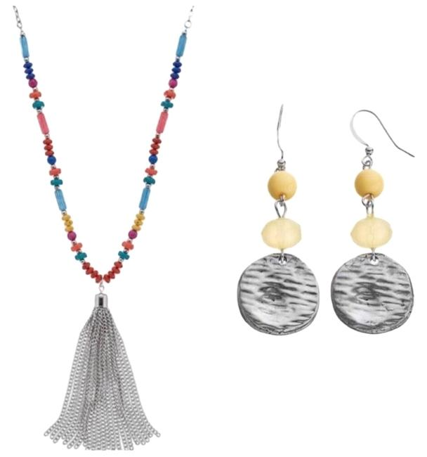 Color Silver Earring Necklace Color Silver Earring Necklace Image 1