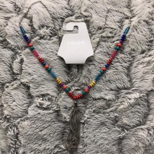 Color necklace earring