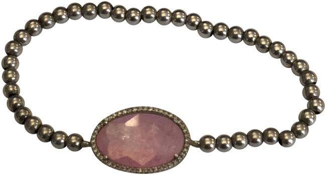 CasaDiBling Silver and Pink .925 Sterling Stretchy Ice Stone Cz Bracelet CasaDiBling Silver and Pink .925 Sterling Stretchy Ice Stone Cz Bracelet Image 1