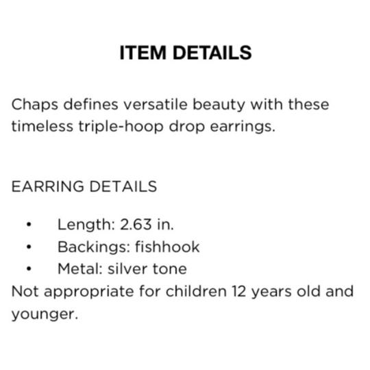 Chaps necklace earring