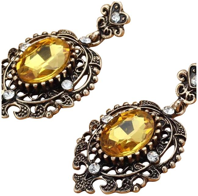Silver and Yellow New Antiqued Earrings Silver and Yellow New Antiqued Earrings Image 1
